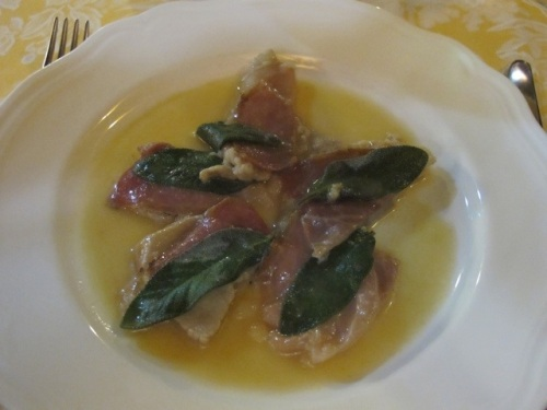 saltimbocca at Del Sonno