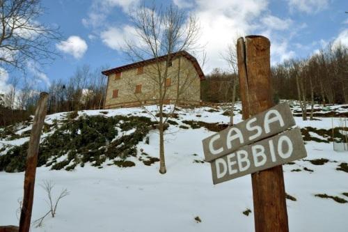 Casa Debbio with snow