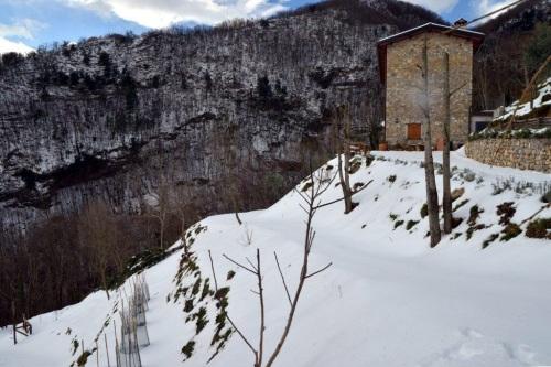 snow at Casa Debbio