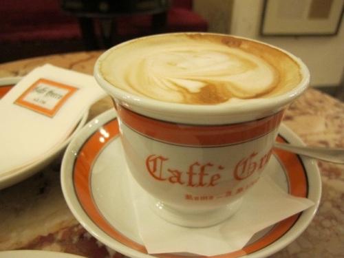 cappuccino at Caffe Greco