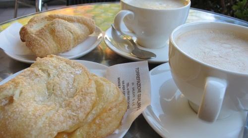 cappuccino senna schiuma and apple sfoglia at Il Monaco in Ponte a Serraglio