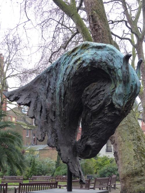 Sculpture in Mount St Garden