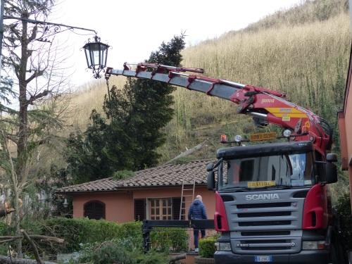 Damage in Bagni di Lucca