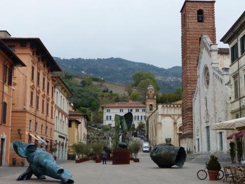 Main piazza Pietrasanta