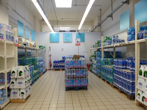 Supermarket water