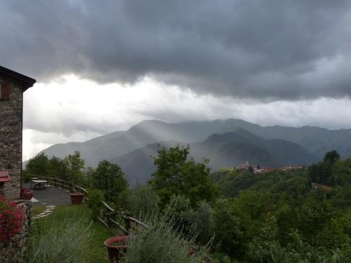 rain at Casa Debbio