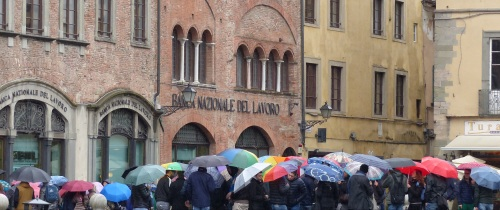 Lucca in the rain