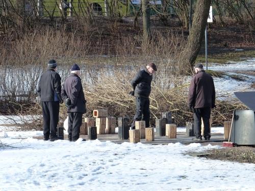 Finnish gentlemen in the park