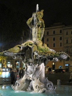 Rome Barberini fountain