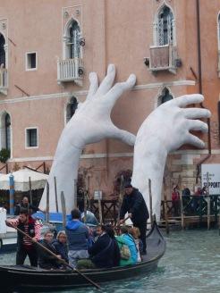 Lorenzo Quinn hands